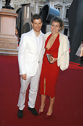 TOM AIKENS and his wife AMBER at the Royal Academy of Art Summer Exhibition Preview Party on 4th June 2008.<br /><br />NON EXCLUSIVE - WORLD RIGHTS