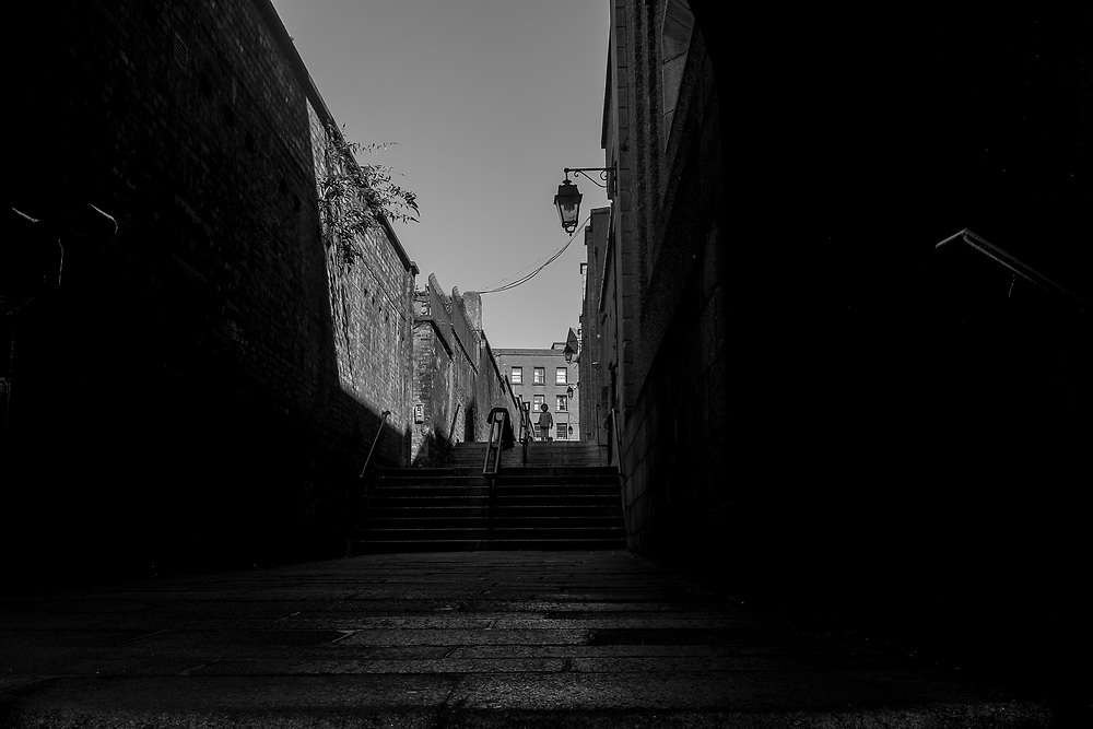 Alley near Dublin Castle, Dublin, Ireland.