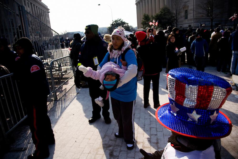 The Inauguration of President Barack Obama. Washington DC, January 20, 2009. Along the Parade route.