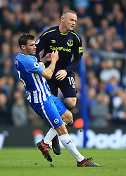 15 October 2017 -  Premier League - Brighton and Hove Albion v Everton - Wayne Rooney of Everton in action with Pascal Gross of Brighton and Hove Albion - Photo: Marc Atkins/Offside