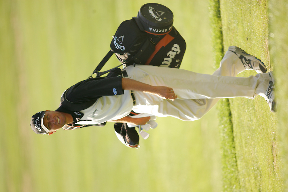 """Jim """" Bones """" McKay.( caddie for Phil Mickelson ).2006 WGC Accenture Match Play Championship.Second Round.La Costa Resort & Spa.Carlsbad, CA.Thursday, February 23 2006.02-23-06.photograph by Darren Carroll."""
