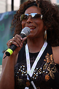 Ann Trip of 98.7 KISS-FM at The 2008 J &R Downtown Music Festival Launch at City Hall Park on August 21, 2008 in New York City