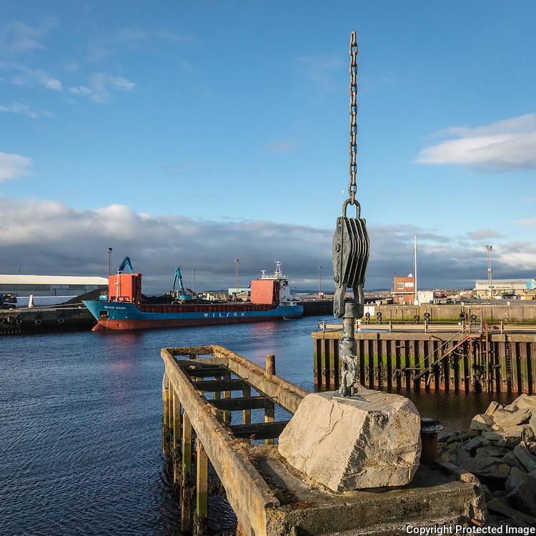 Ayr harbour, Ayrshire, Scotland.