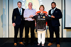 Devon Tiles , sponsors of Elvis Taione and Charlie Wright are presented with a signed match shirt - Ryan Hiscott/JMP - 18/09/2019 - SPORT - Sandy Park - Exeter, England - Exeter Chiefs Players Sponsors Evening