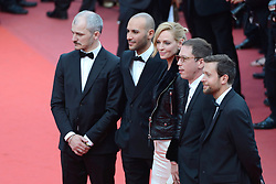 Joachim Lafosse, Reda Kateb, Uma Thurman, Mohamed Diab and Karel Och arriving at the Nelyubov (Loveless) screening held at the Palais Des Festivals in Cannes, France on May 17, 2017, as part of the 70th Cannes Film Festival. Photo by Aurore Marechal/ABACAPRESS.COM