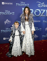 Selena Gomez and Gracie Teefey at the World premiere of Disney's 'Frozen 2' held at the Dolby Theatre in Hollywood, USA on November 7, 2019.