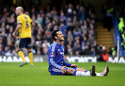 Pedro of Chelsea looks frustrated after shooting wide of the goal - Mandatory byline: Robbie Stephenson/JMP - 10/01/2016 - FOOTBALL - Stamford Bridge - London, England - Chelsea v Scunthrope United - FA Cup Third Round