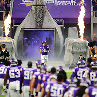 MINNEAPOLIS, MN - OCTOBER 14: Kirk Cousins #8 of the Minnesota Vikings takes the field during pregame introductions before facing the Arizona Cardinals at U.S. Bank Stadium on October 14, 2018 in Minneapolis, Minnesota. (Photo by Adam Bettcher/Getty Images) *** Local Caption *** Kirk Cousins