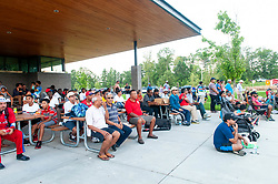 September 22, 2018 - Morrisville, North Carolina, US - Sept. 22, 2018 - Morrisville N.C., USA - Nearly 2,000 spectators came out for the ICC World T20 America's ''A'' Qualifier cricket match between USA and Canada. Both teams played to a 140/8 tie with Canada winning the Super Over for the overall win. In addition to USA and Canada, the ICC World T20 America's ''A'' Qualifier also features Belize and Panama in the six-day tournament that ends Sept. 26. (Credit Image: © Timothy L. Hale/ZUMA Wire)