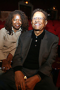 l to r: Debi Jackson and Hal Jackson at the Apollo Theater 75th Birthday Celebration Press Conference announcing its special anniversary programming across Harlem, New York, and the Nation.