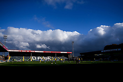Bristol Rovers warm up at Rochdale - Mandatory by-line: Robbie Stephenson/JMP - 31/10/2020 - FOOTBALL - Crown Oil Arena - Rochdale, England - Rochdale v Bristol Rovers - Sky Bet League One