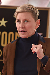 Ellen Degeneres attends the ceremony honoring Pink with Star on The Hollywood Walk Of Fame on February 5, 2019 in Los Angeles, CA, USA. Photo by Lionel Hahn/ABACAPRESS.COM