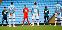Football - 2019 / 2020 Premier League - Manchester City vs. Burnley<br /> <br /> Players pre kick off at the Etihad Stadium. <br /> <br /> <br /> COLORSPORT/LYNNE CAMERON
