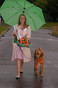 Cara Williams and 'Millie'. Macmillan Dog Day in aid of Macmillan Cancer Relief. Royal Hospital Chelsea, 5 July 2005. ONE TIME USE ONLY - DO NOT ARCHIVE  © Copyright Photograph by Dafydd Jones 66 Stockwell Park Rd. London SW9 0DA Tel 020 7733 0108 www.dafjones.com