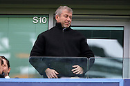Roman Abramovich, the Chelsea owner looks on from the stands . Barclays Premier league match, Chelsea v Manchester Utd at Stamford Bridge in London on Sunday 7th February 2016.<br /> pic by John Patrick Fletcher, Andrew Orchard sports photography.