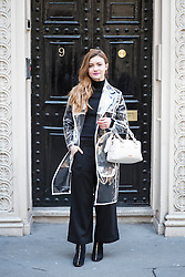 Juliana Chow during London Fashion Week Autumn/Winter 2017 in London.  Picture date: Friday 17th February 2017. Photo credit should read: DavidJensen/EMPICS Entertainment