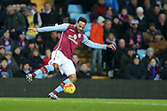 Joleon Lescott of Aston Villa in action .Barclays Premier league match, Aston Villa v Leicester city at Villa Park in Birmingham, The Midlands on Saturday 16th January 2016.<br /> pic by Andrew Orchard, Andrew Orchard sports photography.