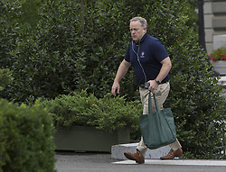 July 29, 2017 - Washington, District of Columbia, United States of America - Outgoing White House Press Secretary Sean Spicer walks into the West Wing of the White House in Washington, DC, July 29, 2017. .Credit: Chris Kleponis / Pool via CNP (Credit Image: © Chris Kleponis/CNP via ZUMA Wire)