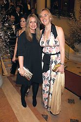 Left to right, ANYA HINDMARSH and COUNTESS MANFREDIE DELLA GHERARDESCA at the Feast of Albion a sumptious locally-sourced banquet in aid of The Soil Association held at The Guildhall, City of London on 12th March 2008.<br />