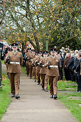 Guard of Honour  arrives at the Funeral of Private Matthew Adam Thornton, Territorial Army Soldier with 4th Battalion The Yorkshire Regiment who was killed on the 9th of November 2011 while deployed to Afghanistan with Support Company 1st Battalion the Yorkshire Regiment..Private Thornton was killed just 6 days after his 28th Birthday and 2 days before Armistice Day. .The funeral was held at All Saints Church Darton Barnsley on Tuesday.29 November 2011  Image © Paul David Drabble