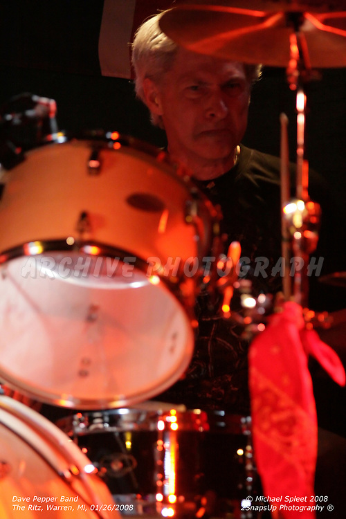 WARREN, MI, SATURDAY, JAN. 26, 2008: Dave Pepper Band, Mark Lindamood at The Ritz, Warren, MI, 01/26/2008. (Image Credit: Michael Spleet / 2SnapsUp Photography)