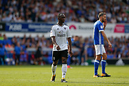 Fulham midfielder Neeskens Kebano (7) during the EFL Sky Bet Championship match between Ipswich Town and Fulham at Portman Road, Ipswich, England on 26 August 2017. Photo by Phil Chaplin.