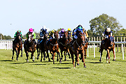 Air of York ridden by Megan Nicholls trained by Grace Harris, Abuja ridden by Liam Keniry trained by Michael Madgwick, Cooperess ridden by Rossa Ryan trained by Adrian Wintle, Four Feet ridden by Emma Taff trained by Henry Candy, Harlequin Rose ridden by Cieren Fallon trained by Patrick Chamings, Mrs Benson ridden by Luke Morris trained by Michael Blanshard, Temujin ridden by George Rooke trained by Michael Appleby, Alezan ridden by Georgia Dobie trained by Eve Johnson Houghton, Clog Na Fola ridden by Ciaran McKee trained by John O'Shea, Erika ridden by Hector Crouch trained by Neil Mulholland Glencoe Boy ridden by David Probert trained by David Flood, Lady Sarah ridden by Nicola Currie trained by Tony Carroll, Look At Him ridden by Russell Harris trained by Gay Kelleway, Penny Diamond ridden by Martin Dwyer trained by Amanda Perrett in the Visitbath.co.uk Classified Stakes - Mandatory by-line: Robbie Stephenson/JMP - 22/07/2020 - HORSE RACING - Bath Racecoure - Bath, England - Bath Races