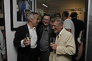 Stephen Bailey, Sebastian Conran  and Joseph Ettendui, EXHIBITION OPENING OF PHOTOS BY DAVID MONTGOMERY. - 'Shutterbug' Scream Gallery. Bruton St. London. 13 July 2006. ONE TIME USE ONLY - DO NOT ARCHIVE  © Copyright Photograph by Dafydd Jones 66 Stockwell Park Rd. London SW9 0DA Tel 020 7733 0108 www.dafjones.com