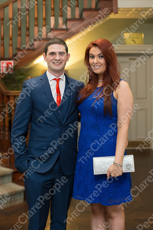 Junior C winner Barry Corbett with Sonia Danagher at the Sixmilebridge GAA Celebration Dinner Dance