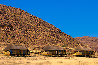 Chalets, Sossus Dunes Lodge near the Sossusvlei Sand Dunes (highest dunes in the world), Namib Desert, Namib-Naukluft National Park, Namibia