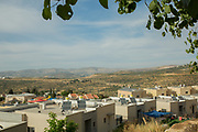 View of Nablus from the Israeli settlement Kdumim in the West Bank, Israel / Palestine