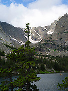 Panoramic view of The Loch, nestled in Rocky Mountain National Park, Colorado, USA.