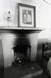 A picture of Quaid-E-Azam Mohammad Ali Jinnah, the founder of Pakistan, on the wall of the Pakistan Cusoms' Office in Torkham