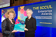 27/01/2014SCCUL Enterprise Award<br /> Social Enterprise <br /> Runner Up<br /> The Mythic Fairy<br /> <br /> Dolores Gavin was presented with her prize by Mary Redmond<br /> Prize is €500 cash and a business profile worth €500 in the special SCCUL Enterprise Awards supplement in the Galway Independent in March<br /> Dolores is the author of a series of bi-lingual ( English and Irish) children's mythological books and associated website www.themythicfairy.com<br /> Her published mythological children's books provide valuable life lessons regarding bullying and having courage. They deal with issues which children face on a daily basis and the first book Lorcan and the Whistle deals with teasing in the school yard.<br /> <br /> Photo:Andrew Downes