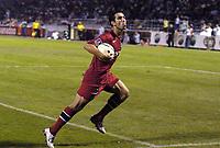 Fotball<br /> Frankrike 2004/05<br /> Istres v Paris Saint Germain<br /> 11. september 2004<br /> Foto: Digitalsport<br /> NORWAY ONLY<br /> JOY PAULETA (PSG) AFTER HIS GOAL
