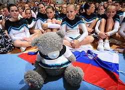 Girls of group Twist, Slovenia during final ceremony at second day of European Cheerleading Championship 2008, on July 6, 2008, in Arena Tivoli, Ljubljana, Slovenia. (Photo by Vid Ponikvar / Sportal Images).