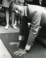 1966 Dick Van Dyke's hand/footprint ceremony at the Chinese Theatre