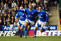 Photo: Chris Ratcliffe.<br /> Norwich City v Ipswich Town. Coca Cola Championship. 05/02/2006.<br /> Danny Haynes celebrates after scoring the winning goal for Ipswich
