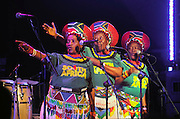 Nederland, Nijmegen, 22-5-2010Optreden van het zangtrio The Mahotella Queens uit Zuid-Afrika als gasten in de band van Alfred, Pee Wee Ellis tijdens het 26e music meeting festival.Still black, still proud, an african tribute to James Brown.Foto: Flip Franssen/Hollandse Hoogte