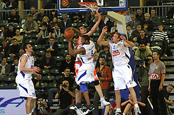 Julius Juby Johnson of Zadar during first semi-final match of Basketball NLB League at Final four tournament between KK Zadar, Croatia and Hemofarm Stada, Vrsac, Serbia, on April 25, 2008, in Arena Tivoli in Ljubljana. Match was won by Hemofarm Stada, who defeated KK Zadar with 81:72. (Photo by Vid Ponikvar / Sportal Images)