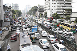September 7, 2016 - Dhaka, Bangladesh - Numerous vehicles jam on a street near Banglamotor in Dhaka, Bangladesh. Lack of skilled drivers and traffic police, a faulty traffic signal systems and the huge amount of vehicles are regarded the main reason for traffic congestions which create daily sufferings for commuters. (Credit Image: © Suvra Kanti Das via ZUMA Wire)