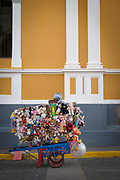 View of a toy seller stand on the street, Granada, Nicaragua