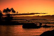 Sunset, Kohala Coast, Island of Hawaii, Hawaii, USA<br />