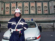 Smiling Police Woman, Firenze, Italy