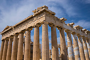 The Parthenon on the Acropolis (Greek for highest point) of Athens