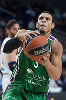 Unicaja Ray McCallum during Turkish Airlines Euroleague match between Real Madrid and Unicaja at Wizink Center in Madrid, Spain. November 16, 2017. (ALTERPHOTOS/Borja B.Hojas)