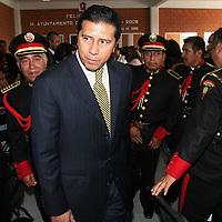 """Toluca, Mex.- Bomberos de la estacion central de Toluca, festejan el """"dia del bombero"""" en homenaje a su altruista y heroica labor en apoyo a la ciudadania. Agencia MVT / Mario Vazquez de la Torre. (DIGITAL)<br /> <br /> NO ARCHIVAR - NO ARCHIVE"""
