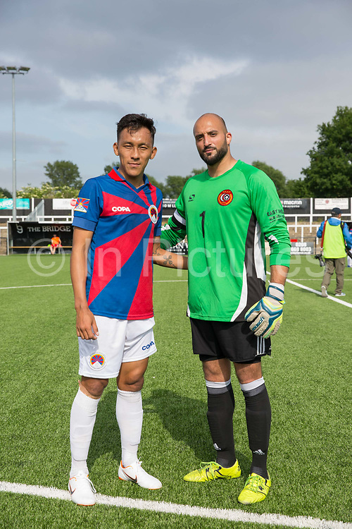 Team Tibet Karma Tsewang and Remzi Sekmen. London Turkish All-Stars Vs Tibet during the Conifa Paddy Power World Football Cup Placement Match A on the 5th June 2018 at Bromley in the United Kingdom. London Turkish All-Stars 4 Tibet 0. Tibet were due to play Ellan Vannin, although Ellan Vannin were withdrawn by CONIFA. Ellan Vannin's withdrawal comes following a vote of the tournament management committee on Monday 4 June, which rejected a challenge by Ellan Vannin to the eligibility of a Barawa player. The CONIFA World Football Cup is an international football tournament organised by CONIFA, an umbrella association for states, minorities, stateless peoples and regions unaffiliated with FIFA.