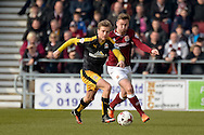 Cambridge United Midfielder Luke Berryduring the Sky Bet League 2 match between Northampton Town and Cambridge United at Sixfields Stadium, Northampton, England on 12 March 2016. Photo by Dennis Goodwin.