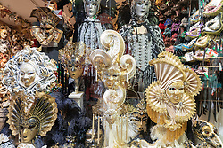 Traditional masks on sale in a shop in Venice. From a series of travel photos in Italy. Photo date: Sunday, February 10, 2019. Photo credit should read: Richard Gray/EMPICS Entertainment